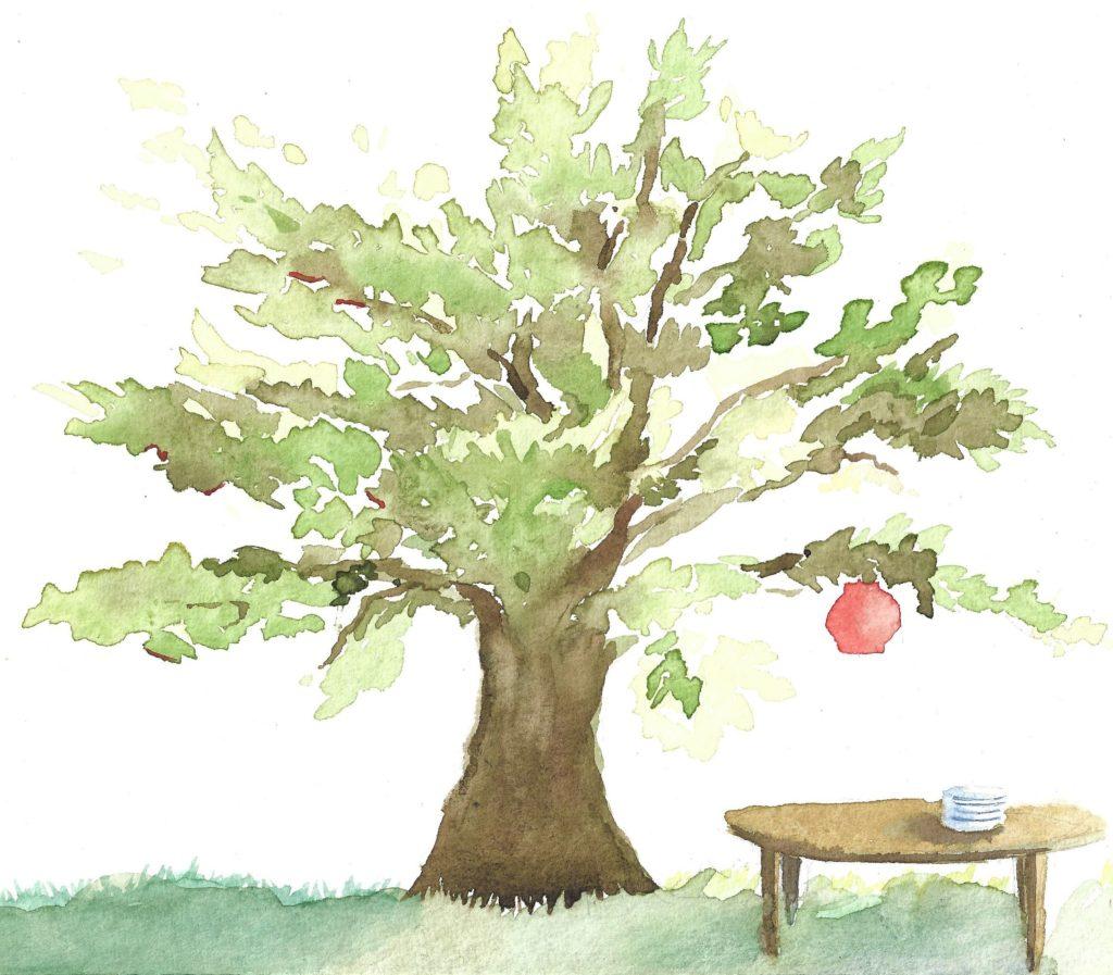 arbre et table